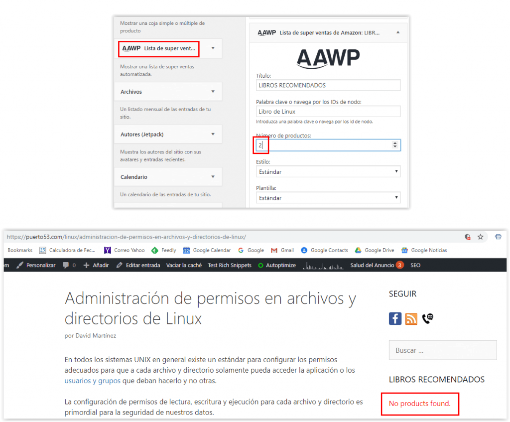 Plugin AAWP - Error No products found